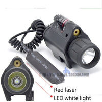 Tactical flash Light CREE T6 LED 1200 Lumens 2X3V 16340 battery Tactical Insight Red Laser Light For Pistol Handgun Laser torch