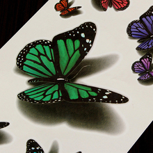 Free Shipping 3D Temporary Colorful Butterfly Tattoo Sticker Body Art Removable Waterproof Hot Beauty 7H58 A4MU