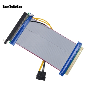 kebidu 16X to 16X Molex Power PCI-E Riser Extension Cable PCI Express Riser Card Adapter Converter for Bitcoin Miner