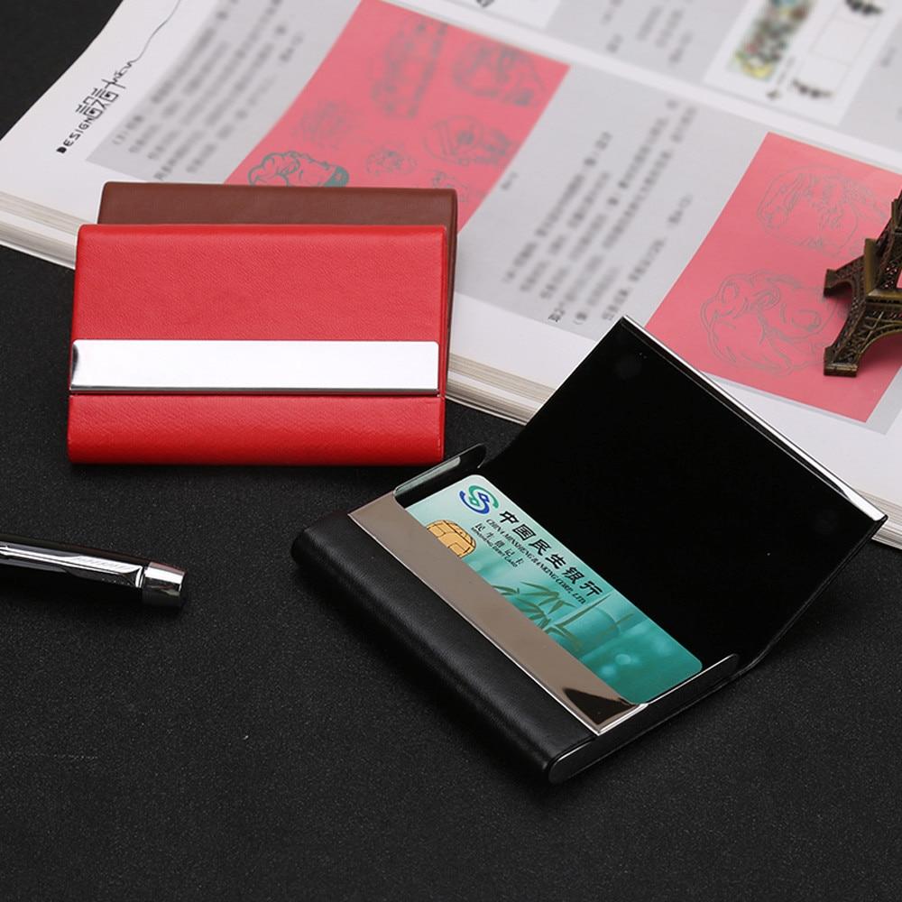 2018 unisex id credit card holder pu leather credit card
