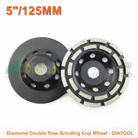 2pcs Pk Diameter 125MM Diamond Double Row Grinding Cup Wheel 5 Inches Concrete Grinding Disk