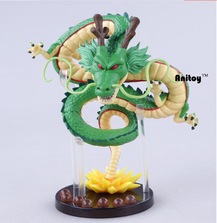 Anime Dragon Ball Z Shenlong Shenron with Balls PVC Action Figure Collectible Model Toy Doll 14CM KT098 dragon ball z action figures collectible toy anime shenron shenlong pvc toys green model movie