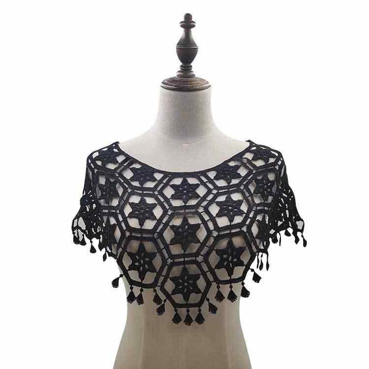 3D полые кружевной воротник ткань платье аппликационный мотив блузка декоративное шитье кружево своими руками воротник шитье ремесло декольте декор Скрапбукинг