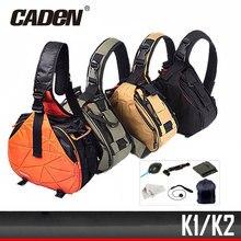 Caden водостойкая дорожная маленькая плечевая камера рюкзак с вышивкой с дождевик треугольник слинг цифровой DSLR фото мягкий рюкзак сумка