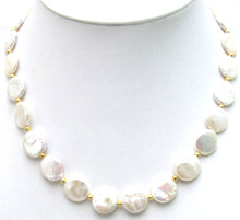 Qingmos White 12-13mm Natural Pearl Necklace for Women with Coin Round Shape Pearl Chokers Necklace Jewelry ne5228 Free shipping shoot 4 way macro focusing rail slider for canon sony nikon pentax close up shooting tripod head with 1 4 screw for dslr camera