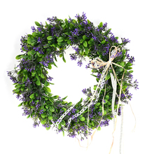 Artificial Flowers Wreath Simulation Green Flowers Hair Wreath Artificial Spring Door Wreath Craft Decoration DIY Home Decor