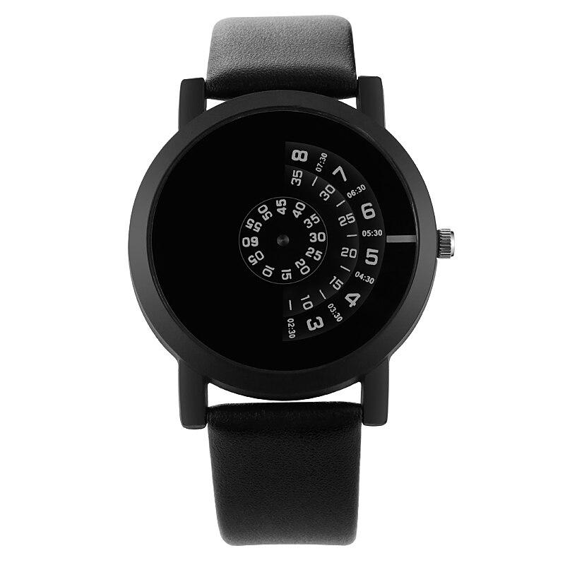 Fashion Turntable Couple Watch Men Women Watches Creative Watch Leather Beloved Clock sevgili saati reloj hombre