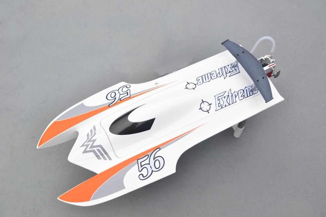 E22 KIT dents de tigre Catamaran pré-peint électrique RC bateau de course coque seulement pour joueur avancé blanc TH02618