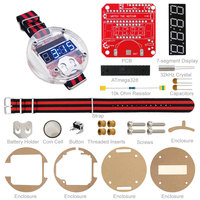Free Shipping! DIY Electronic Watch Kit for Arduino Project+Manual/Latest Big Time Wearable Devices, Programmable Watch