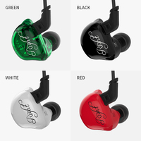 KZ ZSR 2BA DD Earphone Armature With Dynamic Hybrid Headset HIFI Bass Noise Cancelling Earbuds With