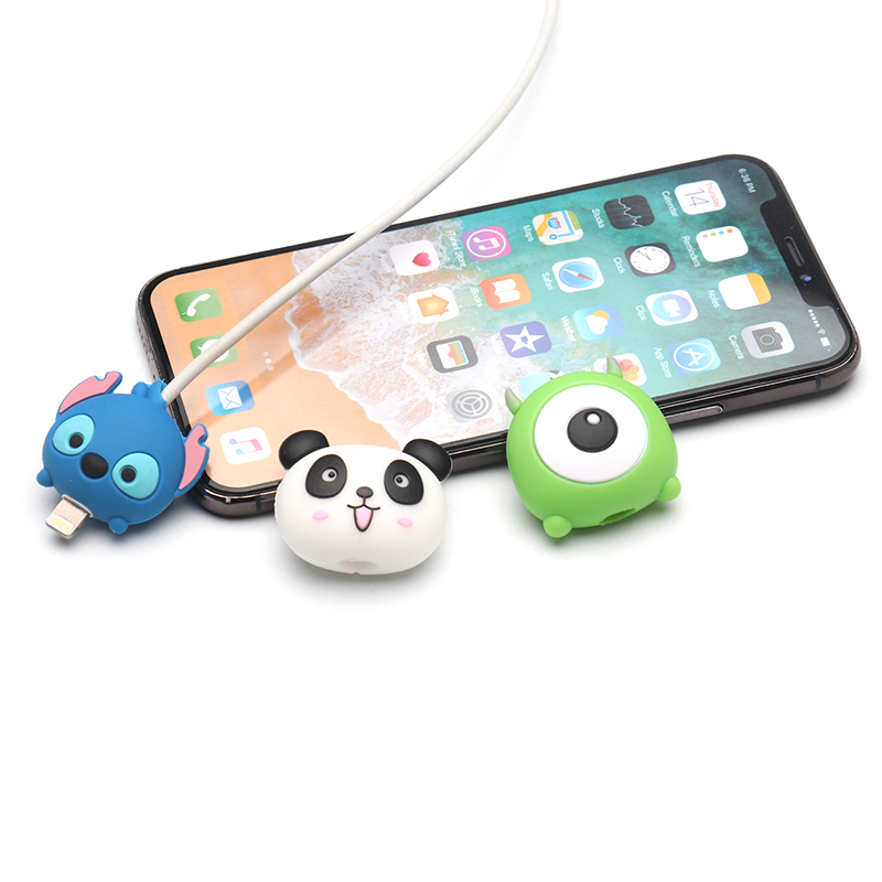 HTB14BSvXPDuK1Rjy1zjq6zraFXaW Cute Cartoon animel cable protector for iphone usb cable chompers holder charger wire organizer phone accessories dropshipping