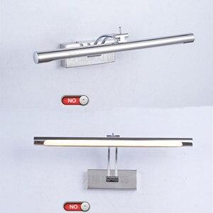 Image 3 - Lampa LED nad lustro wodoodporna 5W/40CM 7W/46CM 12W/55CM AC90 260V nowoczesne kosmetyczne akrylowa lampa ścienna oświetlenie łazienki regulowany