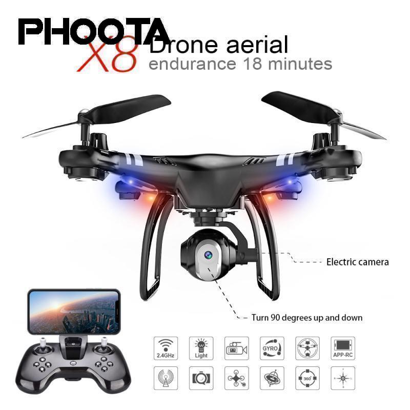 RC Drone Resistenza 18 Minuti 480 p/720 p HD Della Macchina Fotografica FPV WIFI 360 gradi di Rotolamento Mantenimento di Quota Quadcopter