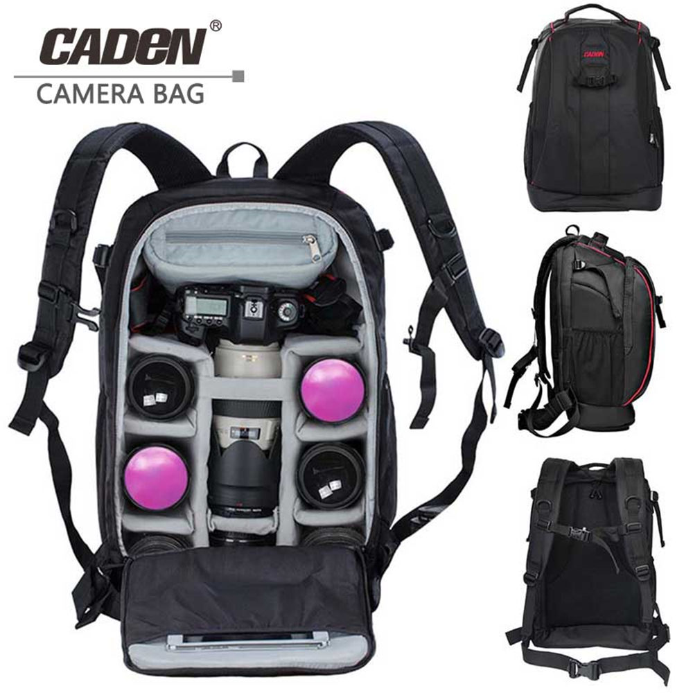 CADeN Photography Mochila Fotografia DSLR Camera Shoulder Bags Backpack Laptop
