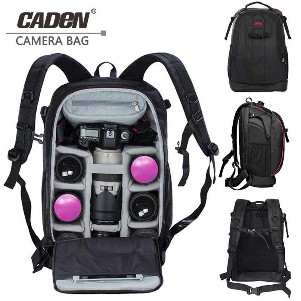 CADeN sac de photographie mochila fotografia DSLR appareil photo sacs à bandoulière sac à dos ordinateur portable pour Canon Nikon voyage antichoc étui à lentilles
