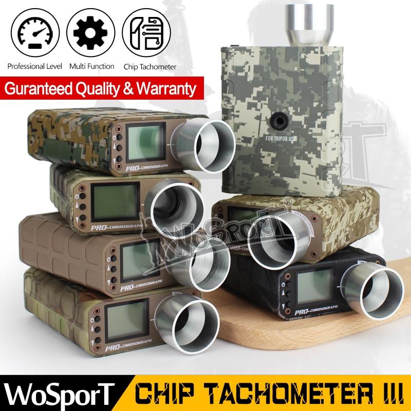 WoSporT Digital Chip Tachometer Tactical CHRONOGRAPH Upgraded Speed Tester Measuring Instrument BB Ball shooting hunting laser type tachometer portable digital tachometer