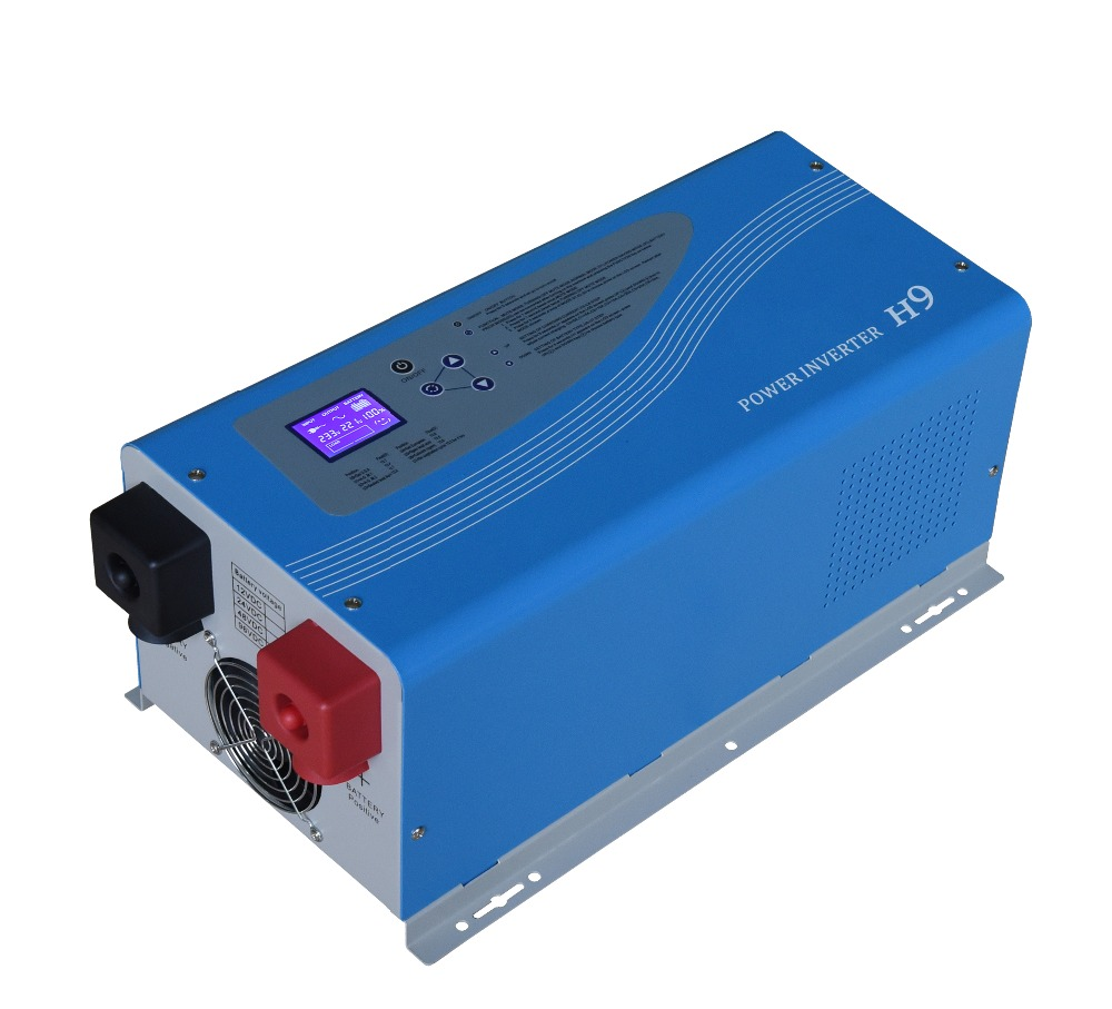 12V 2000W Power Off grid Inverter Pure Sine Wave With Charger Connect Rechargeable Battery AC 100V 240V LCD For Off grid System,
