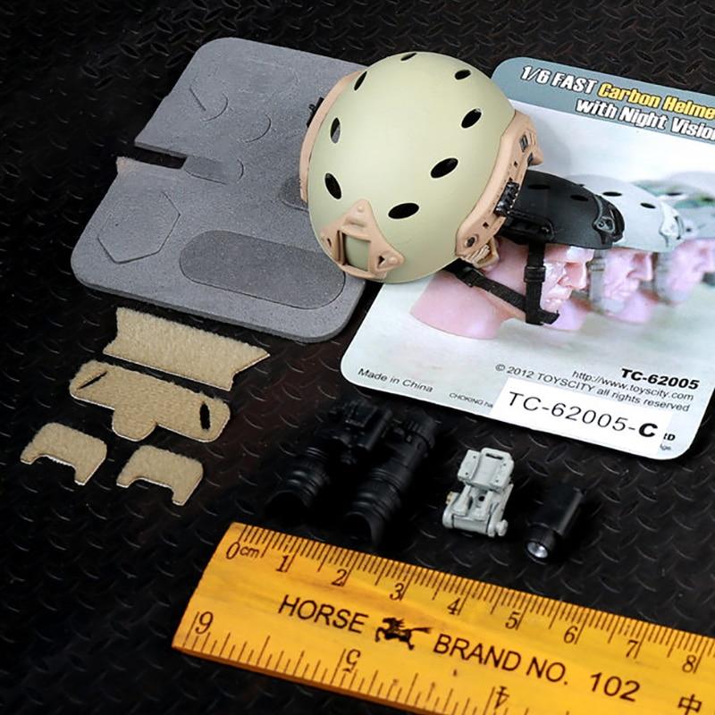 1//6 Toys City 62005B FAST Ballistic Helmet with Night Version Google