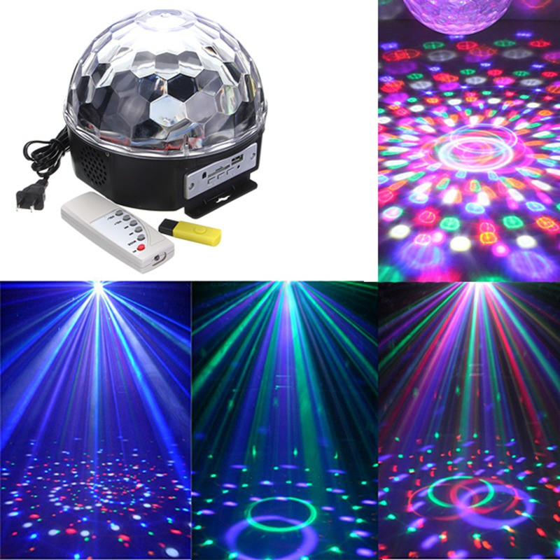 цена на AUCD Disco Party RGB Mixing Color LED Crystal USB Disk Magic Ball KTV Stage Effect Light MP3 DJ Music Club Effect Lighting MQ-04