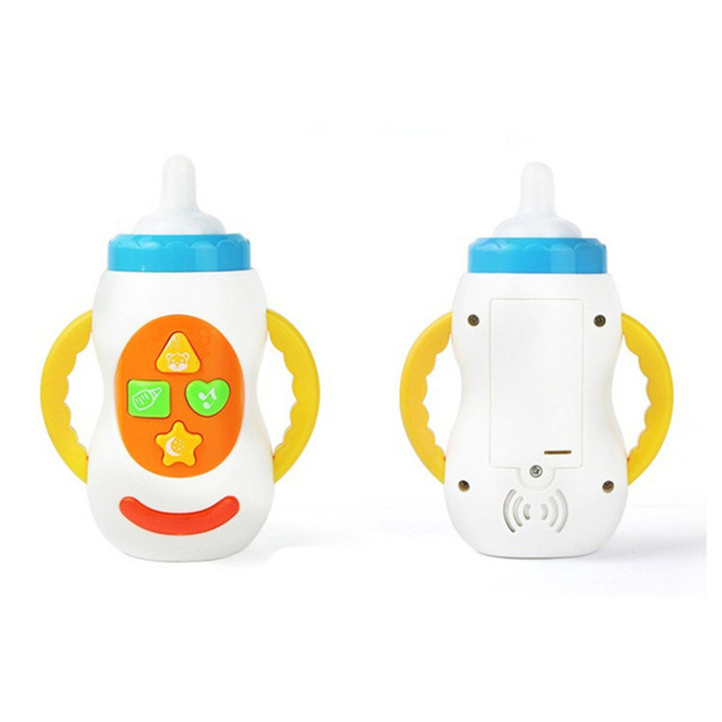 Baby Funny LED Flashing Simulation Baby Bottle With Music Children Early Educational Toys baby doll feeding bottle milk bottle