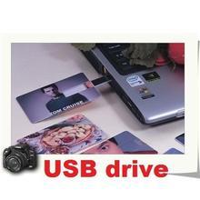 150pcs/lot credit card usb flash drive 64GB 32GB 16GB 8GB 4GB pen drive thumb usb flash memeory accept print logo and mix colors