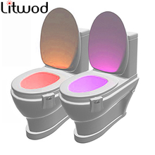 Lamp Toilet Night-Light Body-Motion-Sensor LED Bathroom Discolor Smart Z40 Activated