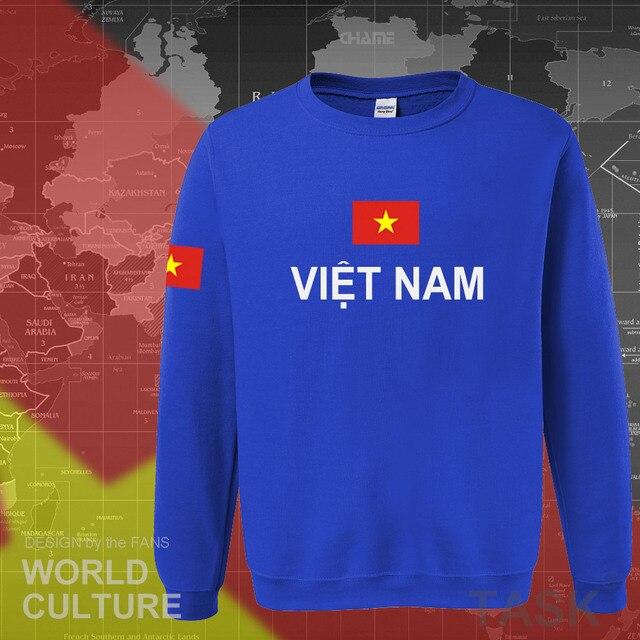 Vietnam hoodies men sweatshirt sweat new hip hop streetwear socceres jerseyes footballer tracksuit nation Vietnamese flag VN 3