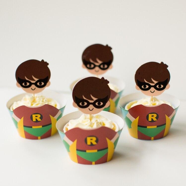 Batman and robin cupcake