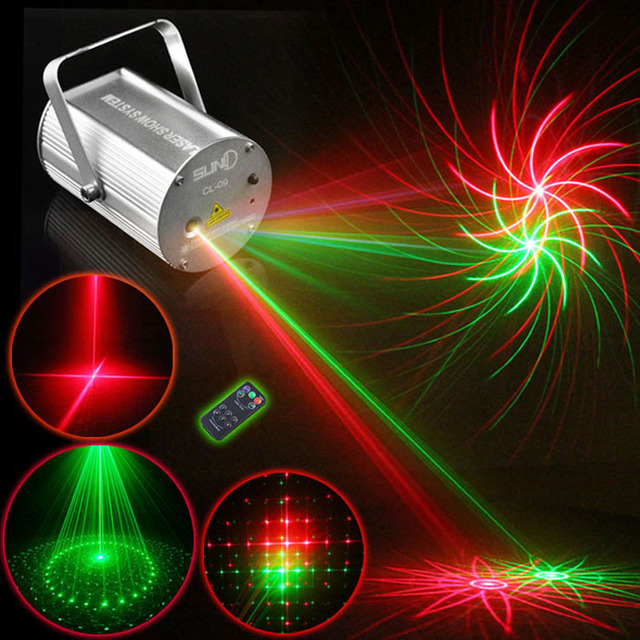 new suny rg 8 patterns led laser stage lighting effect red green dj