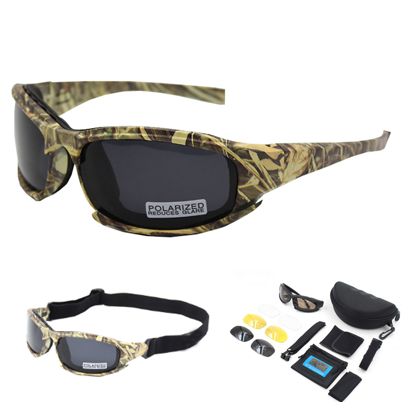 DAISY Goggles 4LS Men Military Polarized Sunglasses Outdoor Men Airsoft Sport Glasses Motorcycle Cycling Goggles