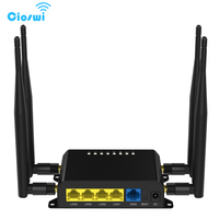 M2m 3g 4g lte modem roteador móvel wifi 12v com slot para cartão sim firewall vpn roteador sem fio 300 mbps 128 mb openwrt