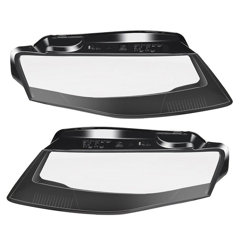 DHBH 1Pair Front Left&Right Car Headlight Lens Light Cover For Audi A4 B8 2008 2012