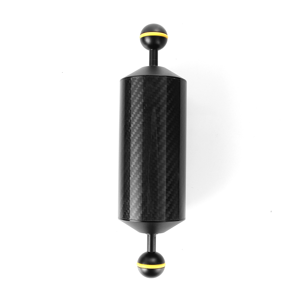 225mm 8.9 Carbon Fiber Float Buoyancy Aquatic Arm Dual Ball Diving Camera Tray