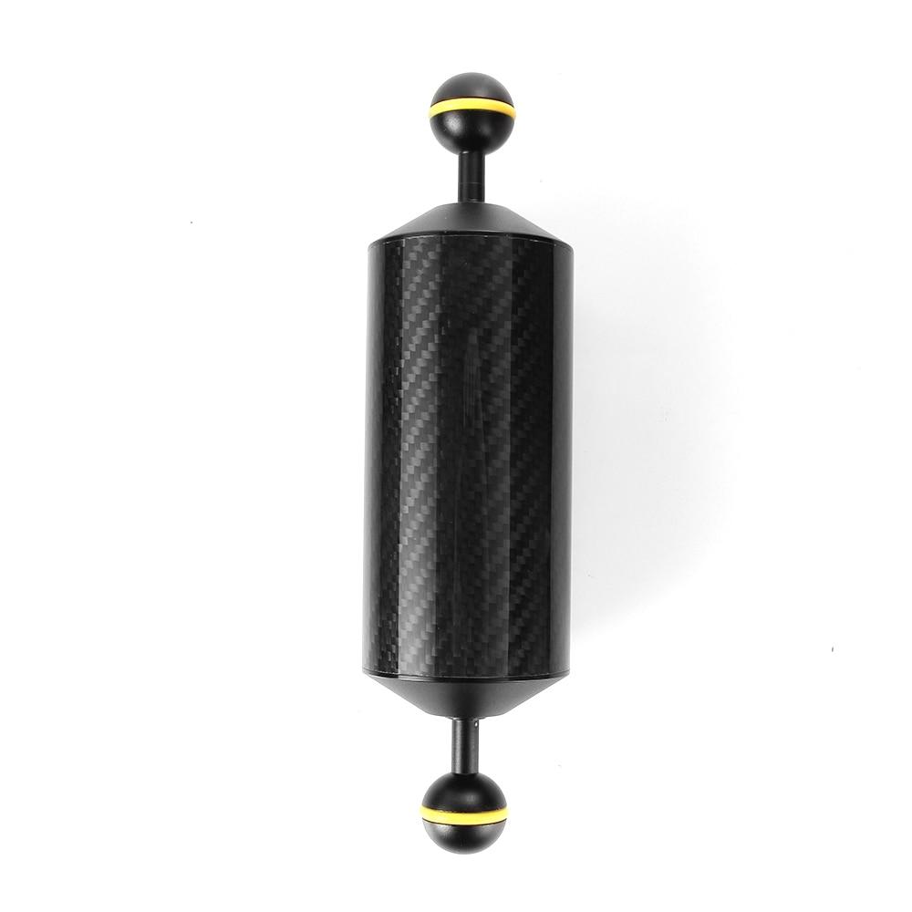 225mm 8.9 Carbon Fiber Float Buoyancy Aquatic Arm Dual Ball Diving Camera Tray