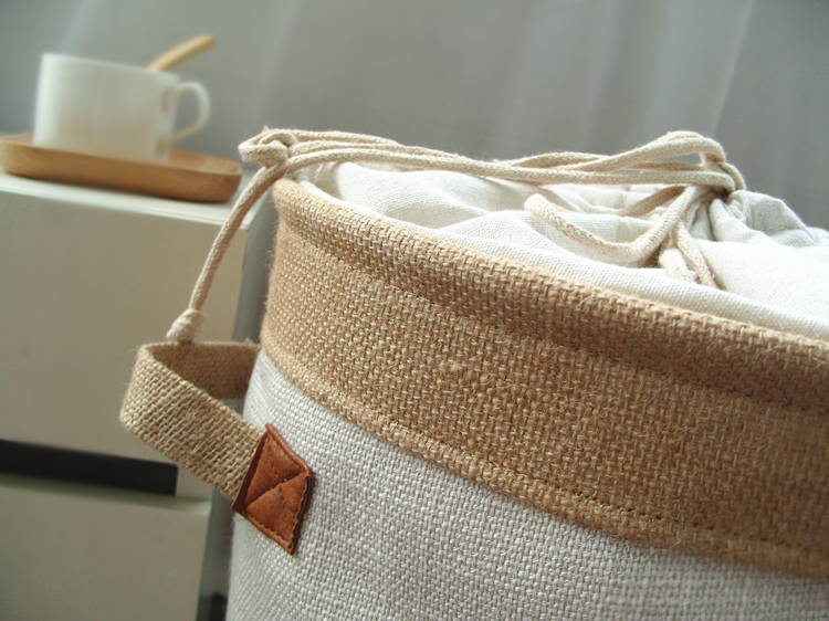 Picnic Basket Stand Laundry Basket Toy Storage Box Super Large Bag Cotton Washing Dirty Clothes Big Basket Organizer Bin Handle (7)