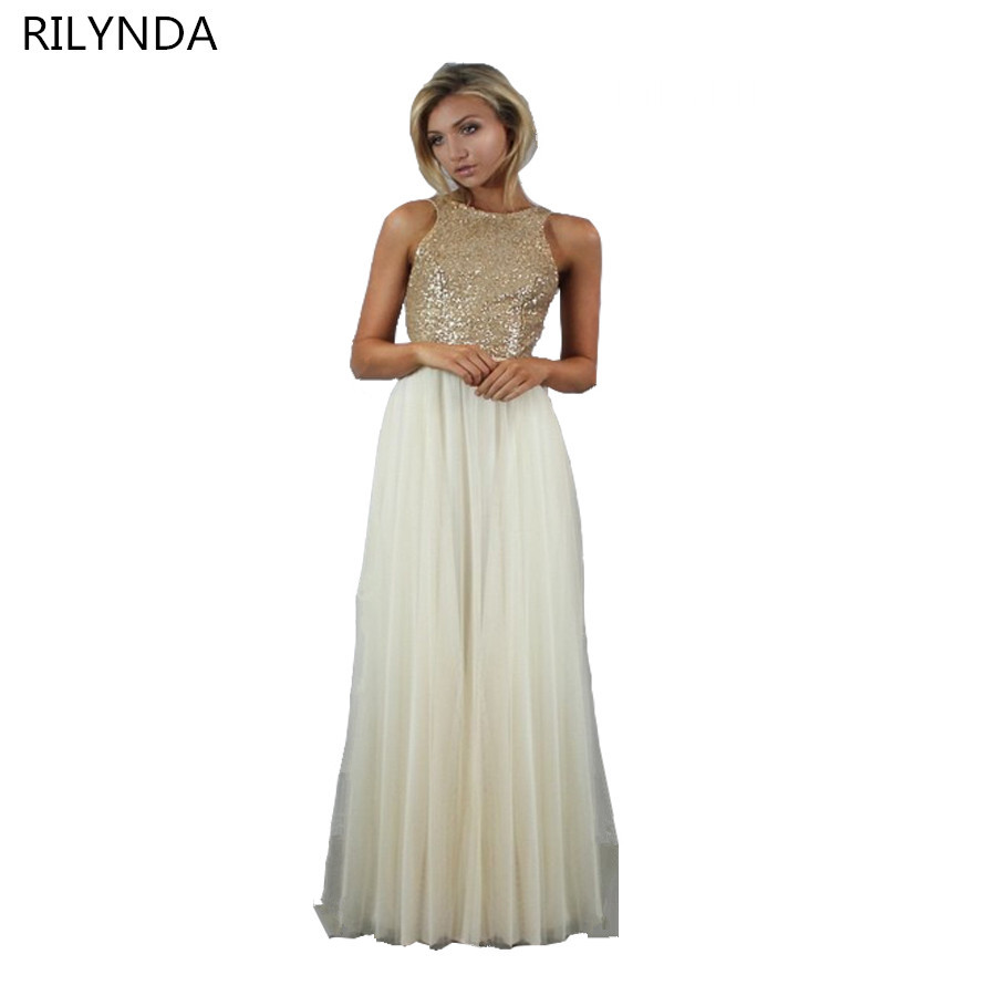 Bridesmaid dresses designer promotion shop for promotional bridesmaid dresses charmming chiffon tulle with top champagne gold sequin formal prom dress 2017 long special occasion dresses ombrellifo Images