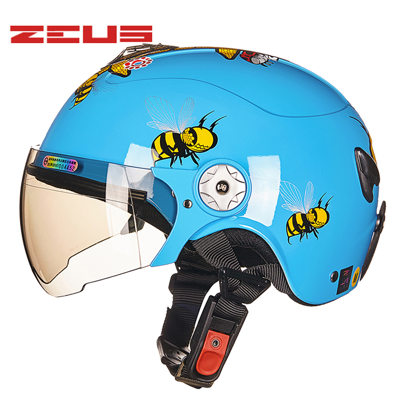 ZEUS S size Childrens Helmets Four Seasons Half Face Motorcycle Electric Bicycles Helmet Harley style