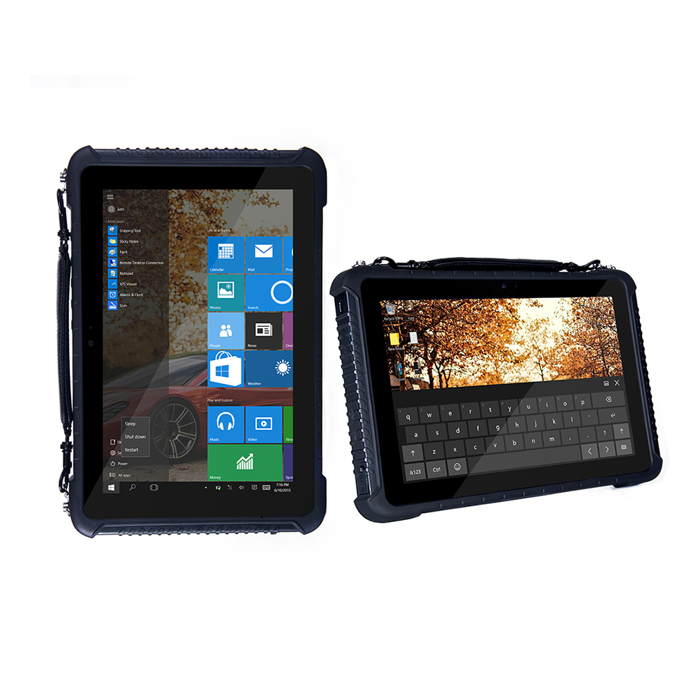 China Windows 10 Home 10.1 Industrial Rugged Waterproof Tablet PC Phone GPS Android 5.1 Fingerprint Reader 2D Barcode Scanner china intemediate reader