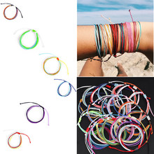 2019 Lucky Star Heart for Women Men Andmade String Colorful Rainbow Rope Adjustable Bracelet DIY Handmade Family Friendship Gift(China)