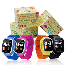 GPS Smartwatch Q90 Сенсорный Экран WIFI Позиционирования Дети Смарт-Наручные смотреть Locator PK Q50 Q60 Q80 для Kid Safe Anti-Потерянный # b0