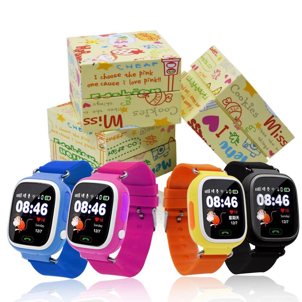 GPS di Posizionamento Bambini Q90 Touch Screen WIFI Smartwatch Astuto Wrist orologio Localizzatore PK Q50 Q60 Q80 per il Capretto di Sicurezza Anti-Lost # b5