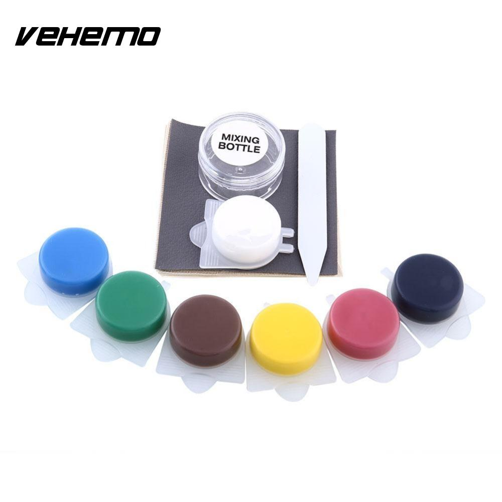 Vehemo Leather Repair Kit Fix Rips Burns Holes For Cars Boat Seat Reparing Tools Universal For BMW BENZ AUDI NISSAN FORD FOCUS 2