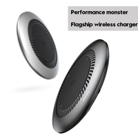 Baseus tornado Wireless Charger Silent fan Automatic radiating Qi Wireless Charging Charger For iPhone X 8 Samsung S9 S8 Huawei 5