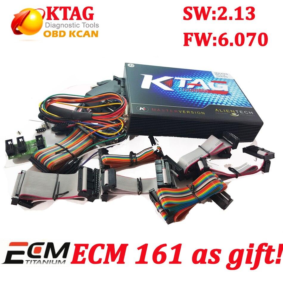 Цена за KTAG Бесплатная ECM FW V6.070 K-TAG программирования ECU мастер KTAG К TAG V2.13 ECU чип поворота без маркер limited