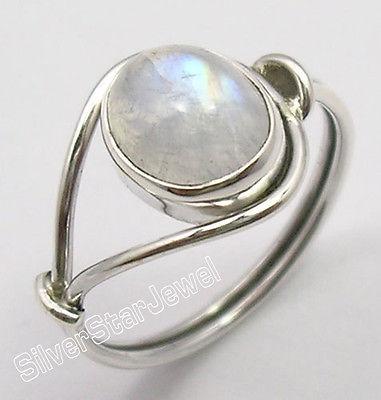 e4612e102e9b Plata Real Original ovalado Arco Iris piedra lunar BESTSELLER anillo  cualquier tamaño nueva variación