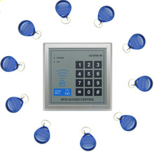1 Unidades Electrónica Cerradura de La Puerta de Entrada de Proximidad RFID Sistema de Control de Acceso con 10 Llaveros Oficinas En El Hogar Sistema de Seguridad