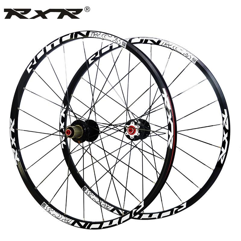 RXR 26 27.5 29 inch carbon fiber hub Mountain bike disc brake wheel set MTB Bicycle Wheels front 2 rear 5 sealed bearings