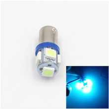 CYAN SOIL BAY 1pc High Quality BA9S 434 T4W 5 LED 5050 SMD H6W Car Auto Interior Reading Lights Dome Lamp DC 12V Ice Blue(China)