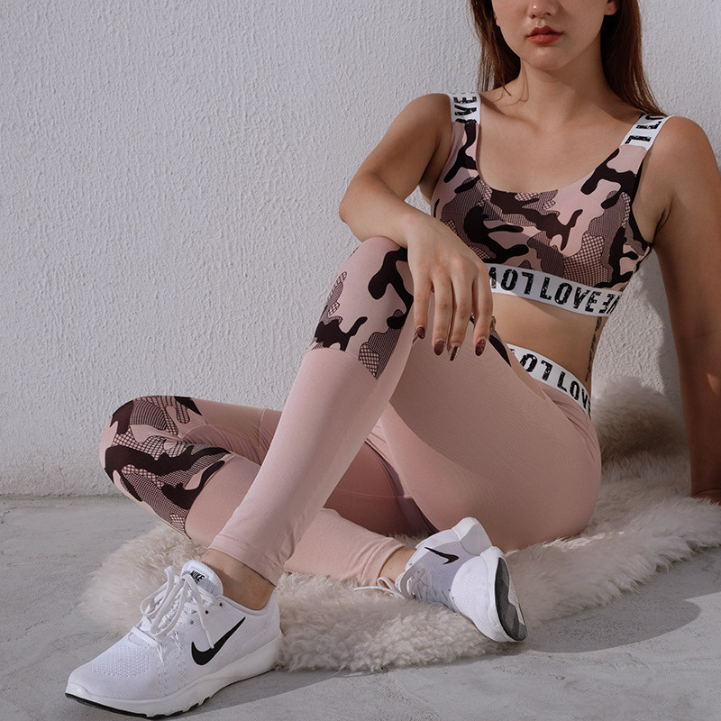 CHRLEISURE-Casual-Women-Sets-Camouflage-Printing-Stitching-Mesh-High-Waist-Breathable-Leaf-Printing-Two-piece-Girl (3)