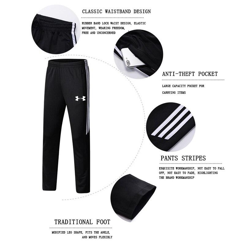 2019 Under Armour hommes veste d'entraînement veste + pantalon survetement homme formation course ensembles sport costumes 2 pièces de haute qualité - 5